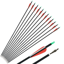 Toparchery 12Pcs Carbon Arrows 30 Inches Spine 500 Diameter 7.8 mm Archery Hunting Shooting Arrows for Recurve Bow все цены