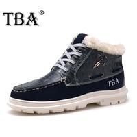 Tba 8081 #新しいファッションメンズ本革毛皮インサイドブーツシルバーブラックブーツ男性英国靴暖かい男性のバルクハイキング