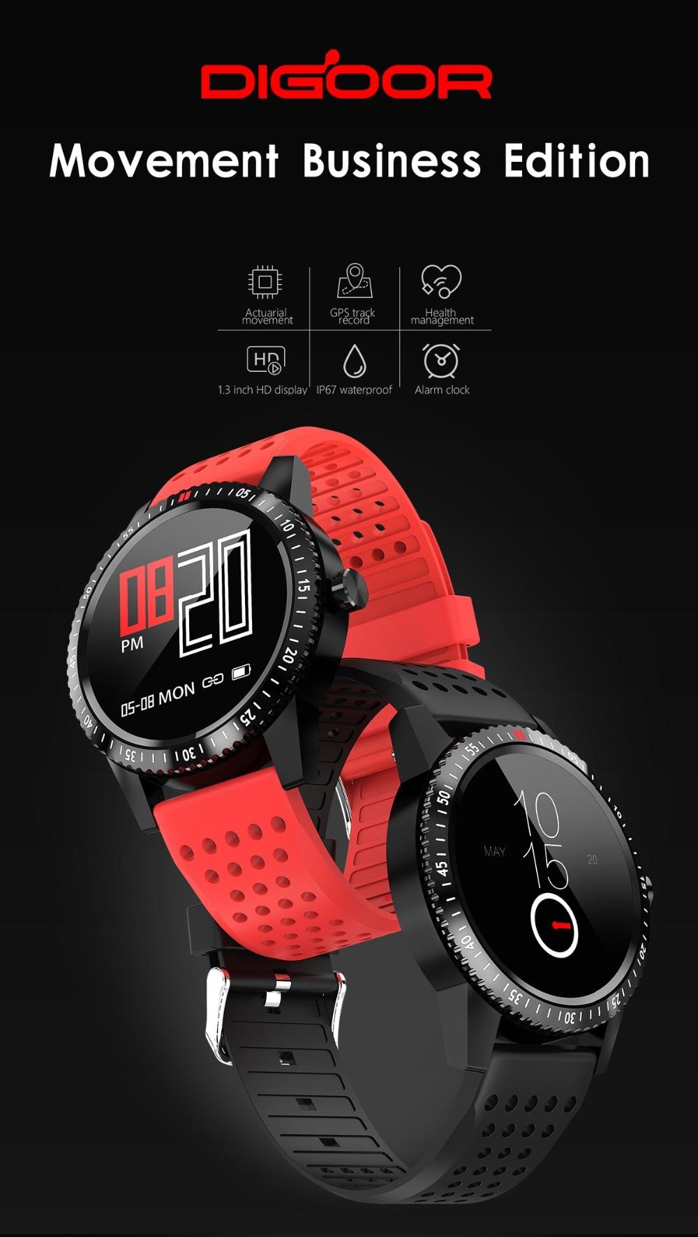 DIGOOR Smart Watch women IP67 waterproof Support Blood pressure  Women Cycle monitoring GPS tracker Heart rate Fitness bracelet Smartwatch (1)