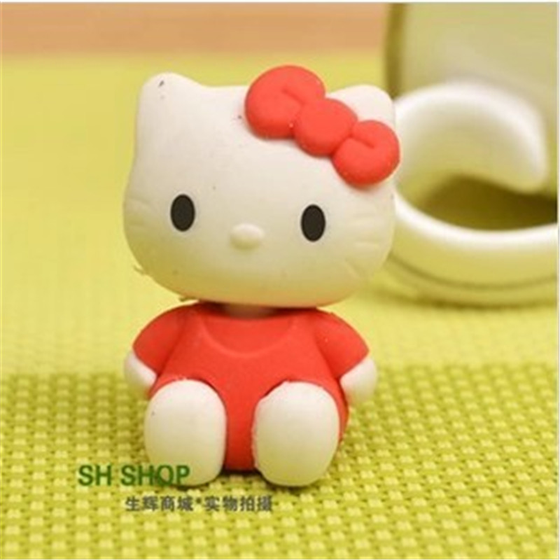 DL D622 Cute KT Cat Boy Creative KT Cat Cartoon Eraser Student 61 Prize Gift Stationery Rubber Stationery Office Supplies For