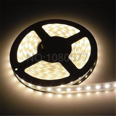 Hot sale 5m reel 600LED 3528 LED strip Waterproof 12V SMD 3528 White Warm white LED