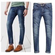 Верхний реальная средняя смягчитель полная длина на молнии 2015new прибытия мужские джинсы простирание мужчины в приталенный Fit Size28-36 Oem 214