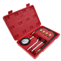 Rapid Type Pressure Gauge Tester Kit Motor Auto Petrol Gas Engine Cylinder Compression Gauge Tester Tool