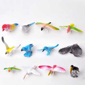 12 Pieces of Various Bird Models Exquisite Puzzle Bird Animal Model  Simulation Children's Best Gift Children's Development Toys