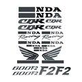 A estrenar de la motocicleta calcomanía etiqueta del depósito de combustible llenas pegatinas calcomanías conjunto Logo Kit para CBR600 F2 600F2