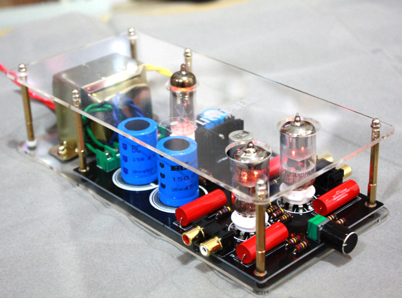 P3 HiFi tube amplifier 6N3(5670) + 6Z4 Tube Preamplifier contains transformer 1pcs high quality 6n3 6z4 tube valve pre amp class a audio stereo preamplifier include transformer g2 007