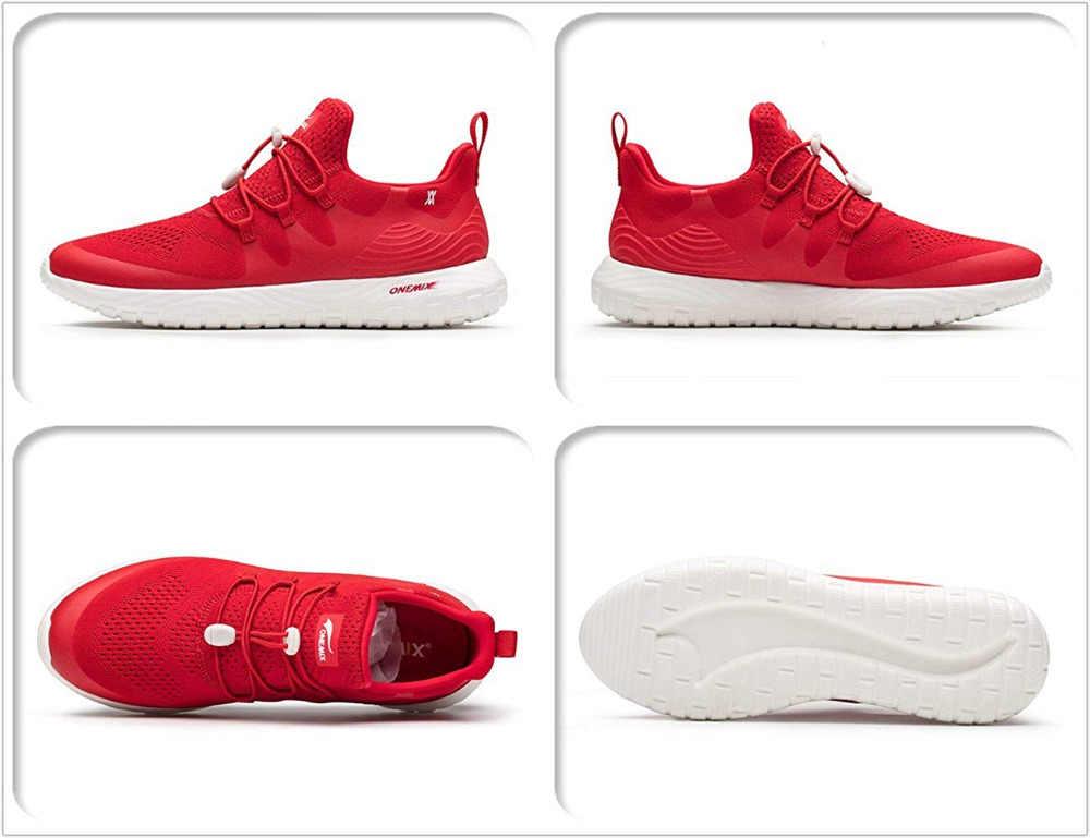 ONEMIX 170g خفيفة الوزن احذية الجري للرجال رياضة المرأة مريحة اللياقة البدنية الركض رياضية ماكس 7 12