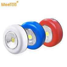 Portable LED Night Lights Touch Sensor Push Switch Battery Powered Wireless Wall Lamp For Bedroom Pathway Stair Closet Toilet(China)