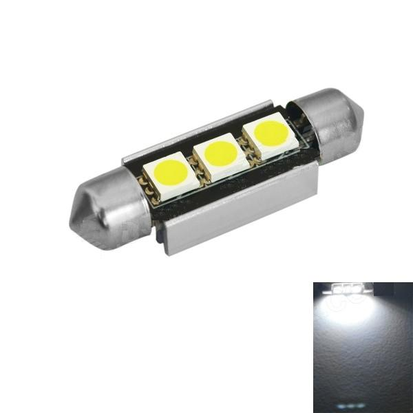 Image 2 - Festoon 39mm LED 6000K 200lm White 3 SMD 5050 LED Light   Bulb  car styling Free Canbus Lamp(12V, 2PCS)-in Signal Lamp from Automobiles & Motorcycles