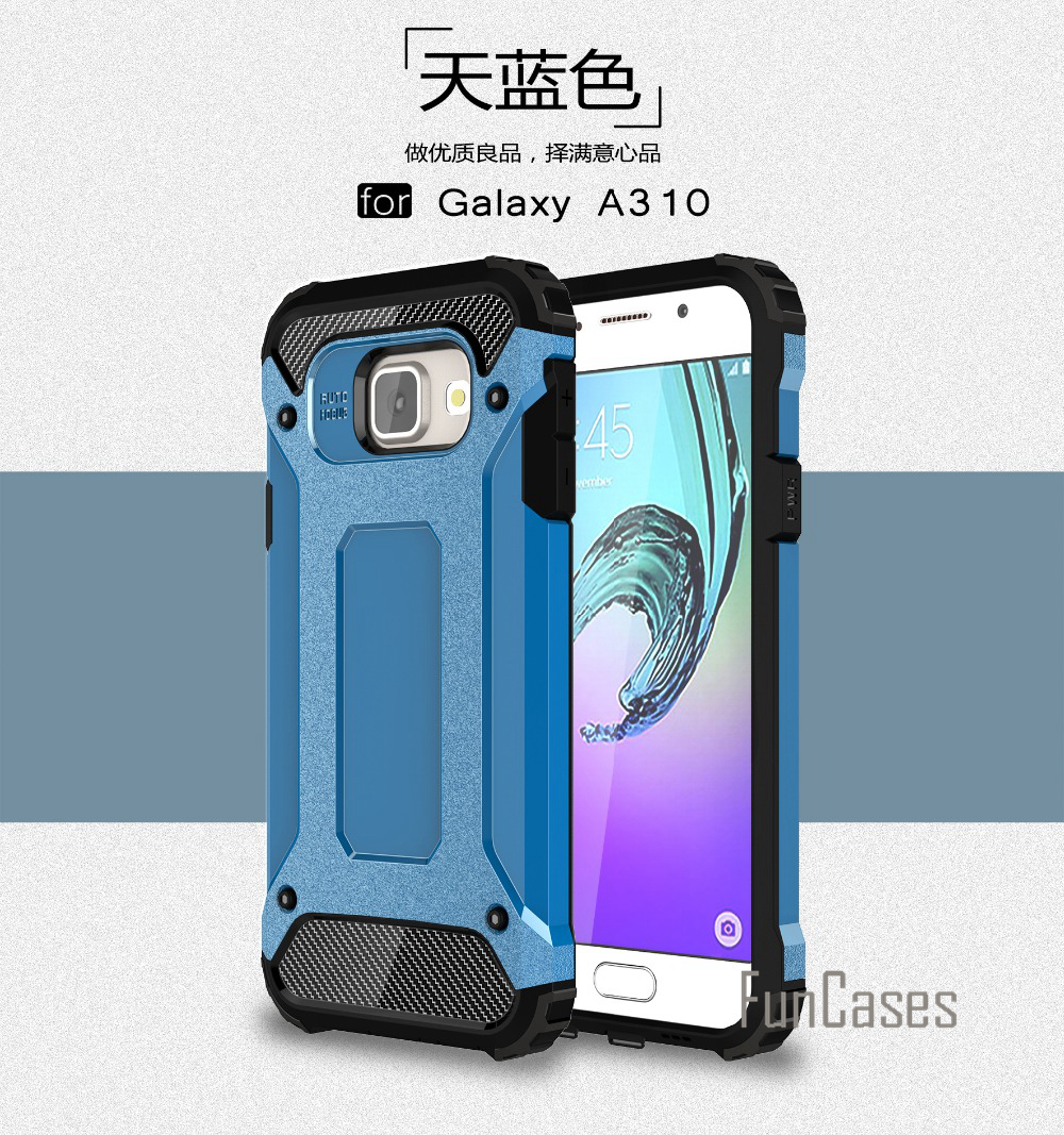Anti-Shock Case for Samsung Galaxy A3 2016 Case A310 A310F A3100 4.7 inch Rubber Hard PC ...