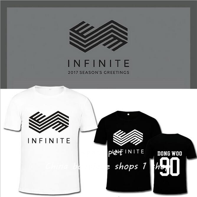 INFINITE support service gold Shenggui South woohyun Xian Jin Mingzhu with men and women summer T-Shirt Tee