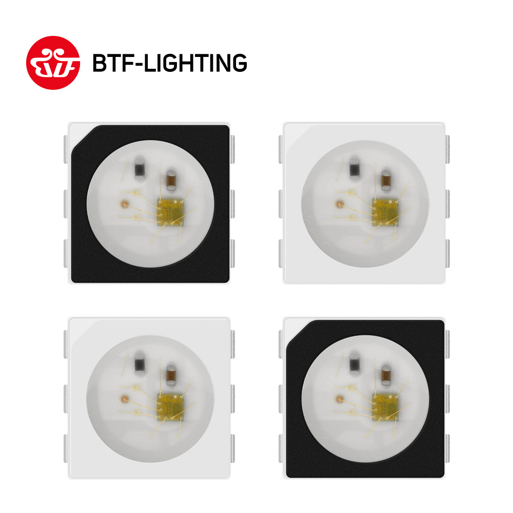 ws2813-6pins-dual-signal-5050-smd-black-white-version-ws2813-individually-addressable-digital-rgb-led-chip-5v-10~1000pcs