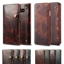 Роскошные Бизнес Стиль из натуральной кожи чехол для samsung Galaxy S8 S9 S10 плюс Чехол флип-чехол-бумажник с отделением для карт для samsung Note 9 8