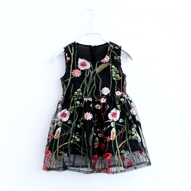 Summer girl fashion lace dress mom baby beach skirt mother and daughter black evening party dresses family look matching clothes все цены