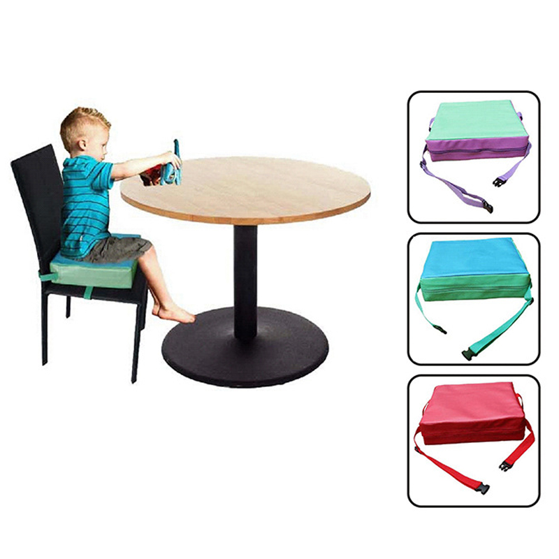 Chrilren Increased Chair Pad Soft Baby Kids Heightening Dining Cushion Adjustable Removable Highchair Booster Cushion Pram Mat