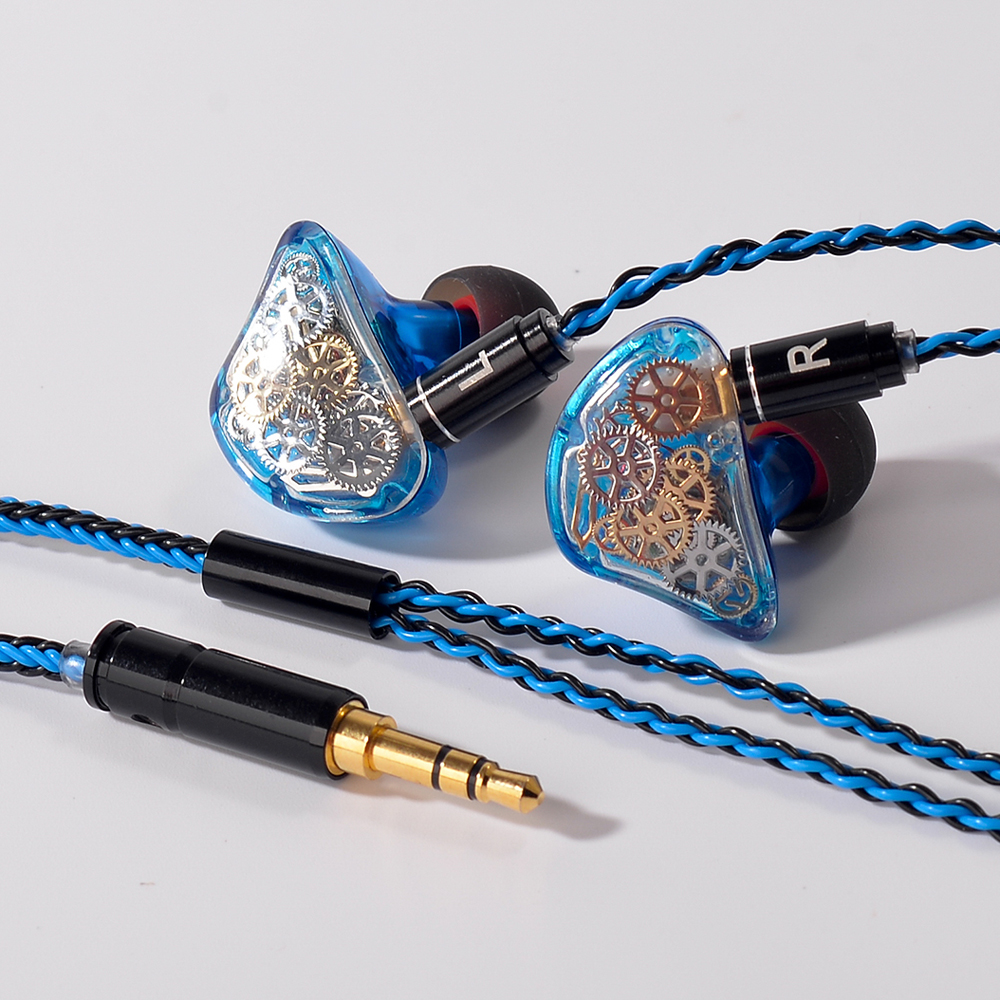 TONEKING TS5 4BA+1DD DIY Colorful Gear Custom Made DIY Hybrid Around Ear Hifi Music DJ Monitor DJ Earphone With MMCX Cable 2017 rose 3d 7 in ear earphone dd with ba hybrid drive unit hifi monitor dj 3d printing customized earphone with mmcx interface