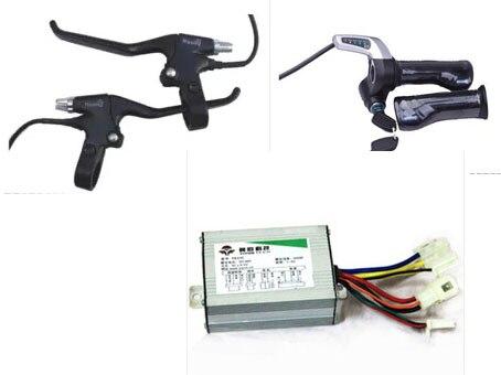 Бесплатная доставка Электрический велосипед контроллер двигателя, электрический велосипед тормоза, Электрический велосипед conversion kit, элек...
