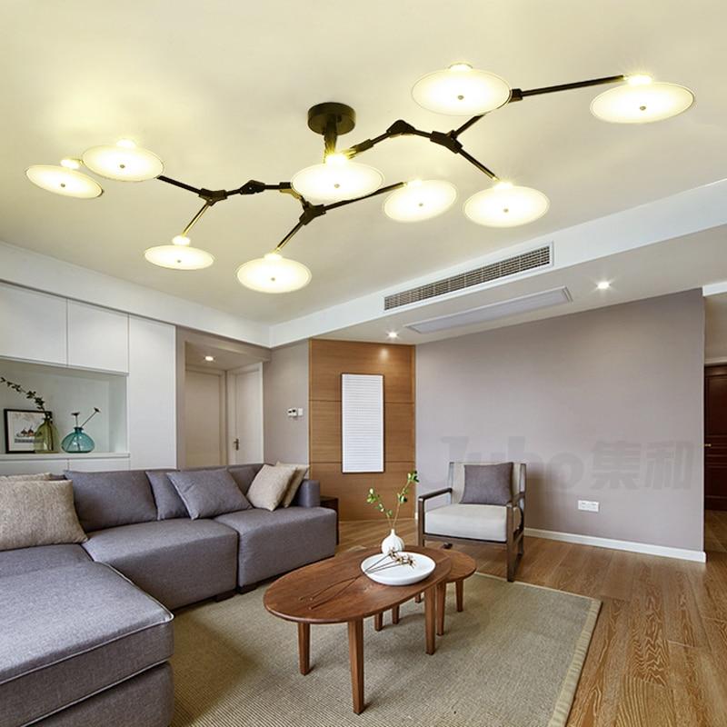 € 229.28 |Candelabro de flor de ciruelo muy creativo iluminación para sala  de estar candelabros LED vintage para comedor AC 110 V 220 V-in Candelabros  ...