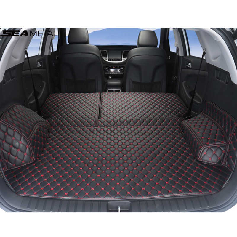 Forro de carga Para Hyundai Tucson 2019 2018 2017 TL 3 Tronco Tapete Tapetes Tapetes Do Assoalho Do Carro Automóvel Acessórios Do Carro- estilo Tapete Mat