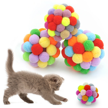Cleaning Pet Teeth Cat Toy Catnip Ball Size 5CM 6CM 7CM 3 Style Multi-colored katten speelgoed Suitable for cat molars D20