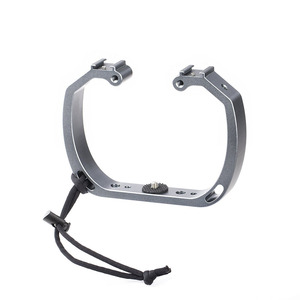 Image 2 - Aluminum Diving Photography Bracket Frame Mount Kit for GOPRO HERO 3+ 4 5 Session yi Action Camera Dive Fill Light Accessory