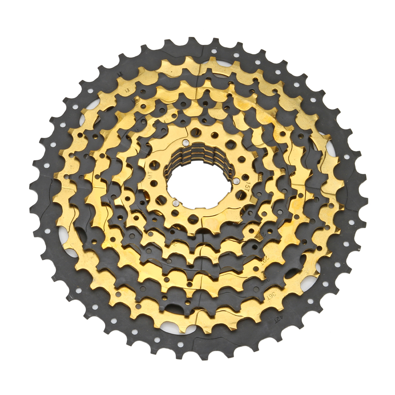 все цены на NEW Free shiping MTB Mountain Bike Bicycle Parts 10speed 10 s Free Wheel Cassette 11-42 T bicycle flywheel онлайн