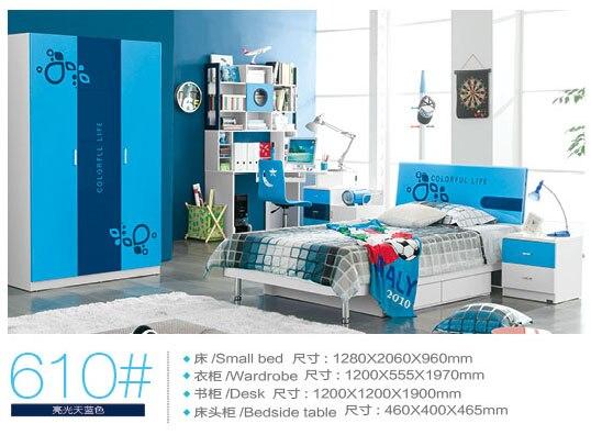 2019 Literas Baby Beds New Arrival Hot Sale Wood Camas Lit Enfants Meuble Kids Bunk Bed Colorful Bedroom Furniture Set