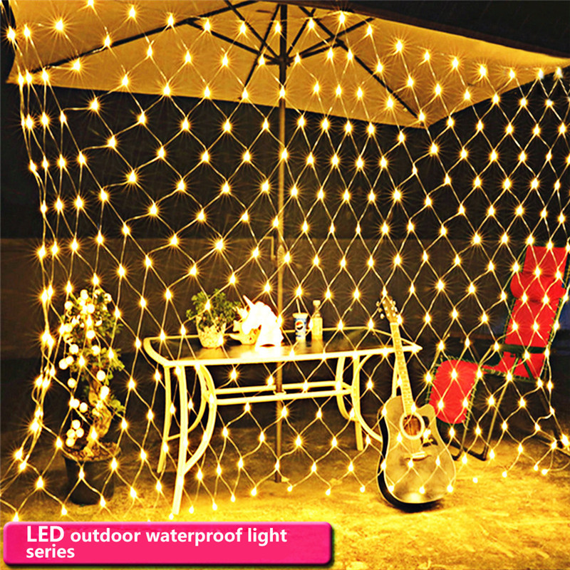3x2 м висит LED Camping палатка свет водонепроницаемый Рождество Свадебные открытый декоративные светильники 200LED 220 В ЕС Plug ...