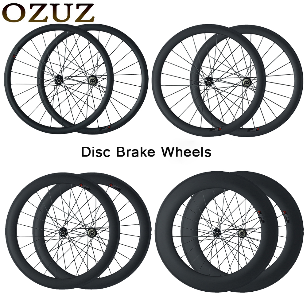 OZUZ Disc Brake Carbon Wheels 38mm 50mm 88mm Depth Cyclocross Bike Wheel Clincher Tubular Bicycle Carbon