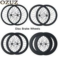 OZUZ Disc Brake Carbon Wheels 38mm 50mm 88mm Depth Cyclocross Bike Wheel Clincher Tubular Bicycle Carbon Wheelset 700c 3k