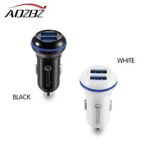 QC3.0 Car Charger Dual USB Car Charger for Samsung GALAXY S7 iPhone X/8 Plus/8/6/6S/7 Plus/SE(China)