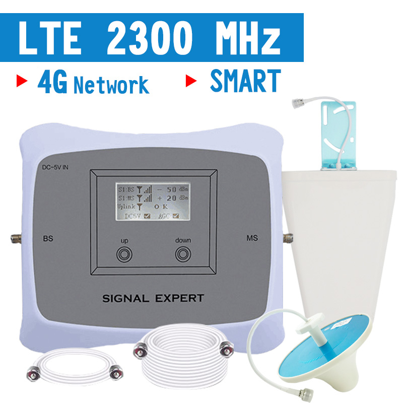 Walokcon 4G LTE Signal Booster TDD 4G LTE 2300 2400 mhz Mobile Phone Signal Repeater 70dB Gain LCD Display 4G Amplifier AGC ALCWalokcon 4G LTE Signal Booster TDD 4G LTE 2300 2400 mhz Mobile Phone Signal Repeater 70dB Gain LCD Display 4G Amplifier AGC ALC