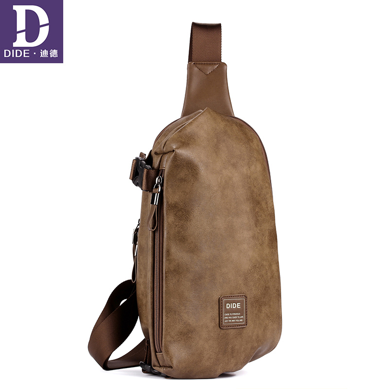 DIDE Waterproof Shoulder Bag Khaki Vintage Style luxury handbags Male bags designer Leather crossbody for men