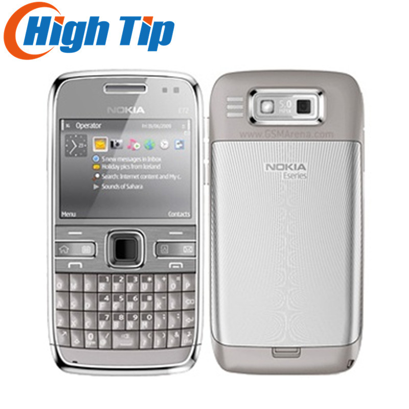 Nokia Unlocked original mobile phone E72 with 5 0MP camera GPS WIFI qwerty keyboard Refurbished Free