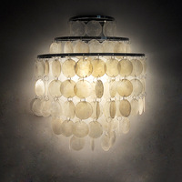 Modern led Wall Lamp Shell Lampshade Bedroom lighting Wall sconce Bedside Lamp Wall Mounted Light Fixture E27 ZBD0046