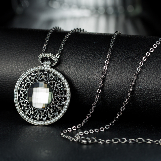 Neoglory MADE WITH SWAROVSKI ELEMENTS Crystal Nickle Free Pendant Punk Vintage Necklaces Jewelry For Women Gift 2017 New