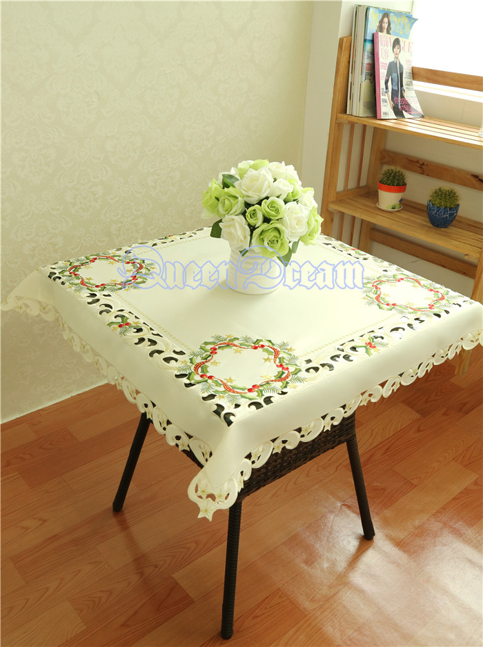blanco bordado mantel manteles tablcloth ahueca