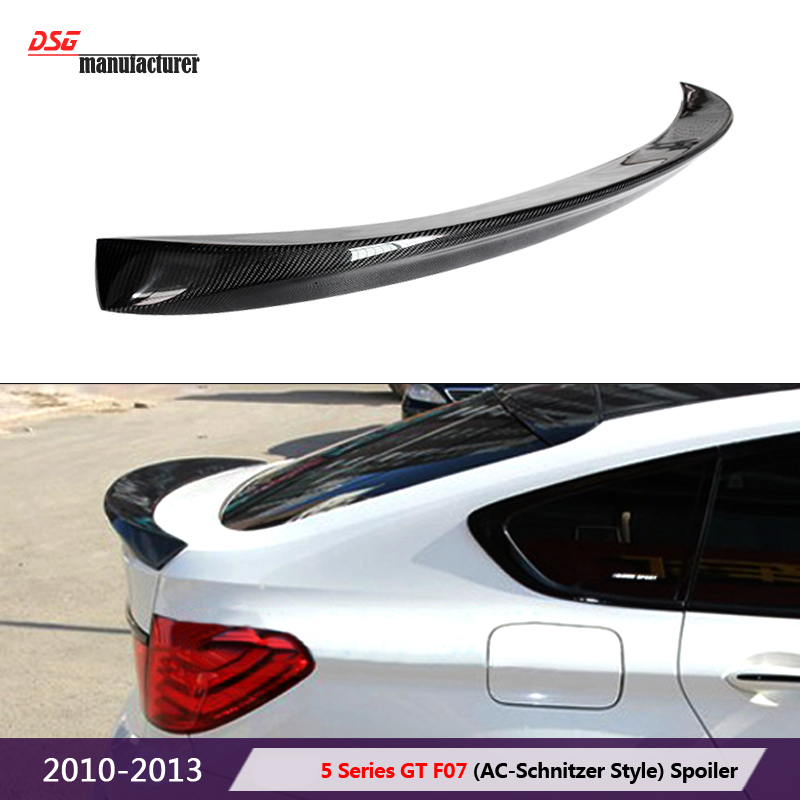 carbon fiber trunk wing spoiler for bmw 5 series gt F07 gran turismo hatchback rear bumper