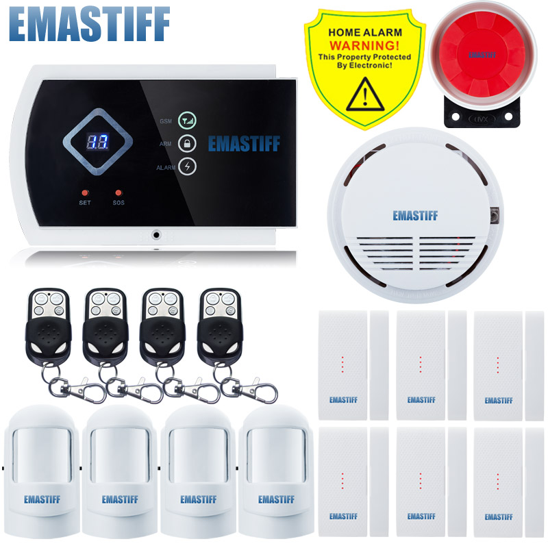 GSM Alarm System intelligent burglar home security system for Wireless and Wired Alarm Quad-band IOS/Android Application control quad band gsm smart home burglar security alarm system w detector sensor remote control