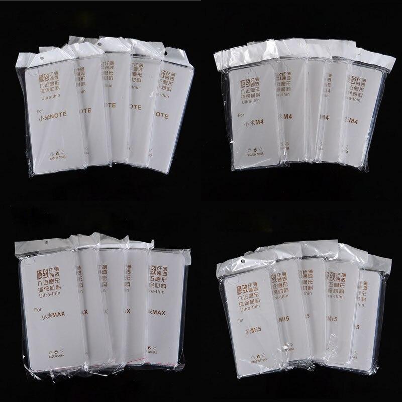 10 PCS Slim Cover Clear Soft TPU Case For Xiaomi Hongmi Redmi 2S 3 3S 3X 4 5S Plus Note 2 3 4 Note2 Note3 Note4