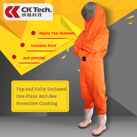 CK Tech. Anti bee Protective Safety Clothing Coveralls Smock Equipment Supplies Beekeeping Beehive Breathable Clothes
