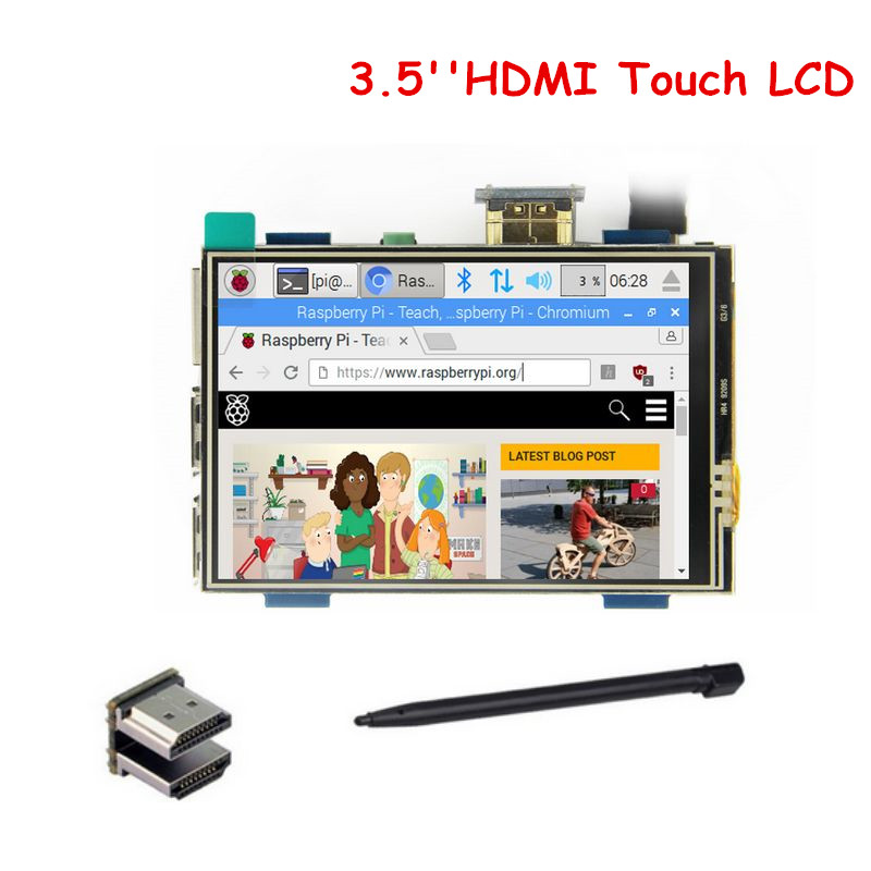 US $25 0 |3 5 Inch HDMI TFT LCD Touch Screen Support 480x320 1920x1080 LCD  Display for Raspberry Pi 3 -in Demo Board Accessories from Computer &