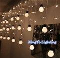 48LED Xmas Quente Globo Bola Sala de Jardim Árvore Decoração Do Partido String Bulbo de Luz de fadas 10 big tamanho 5 cm Corda bola LEVOU Estrelado luz