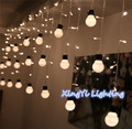 48LED Xmas Warm Globe Ball Garden Room Tree Party Decor String Fairy Bulb Light  10 big size 5cm ball String LED Starry Light