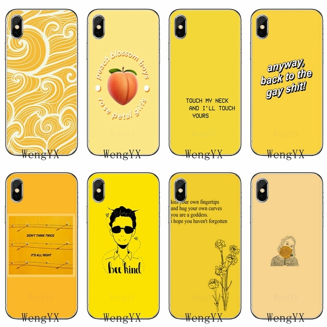 best loved c0c8e 4823b US $1.99 |cool Yellow Aesthetic Art Pretty TPU Soft phone cover case For  Samsung Galaxy S3 S4 S5 S6 S7 edge S8 S9 Plus mini Note 3 4 5 8-in ...
