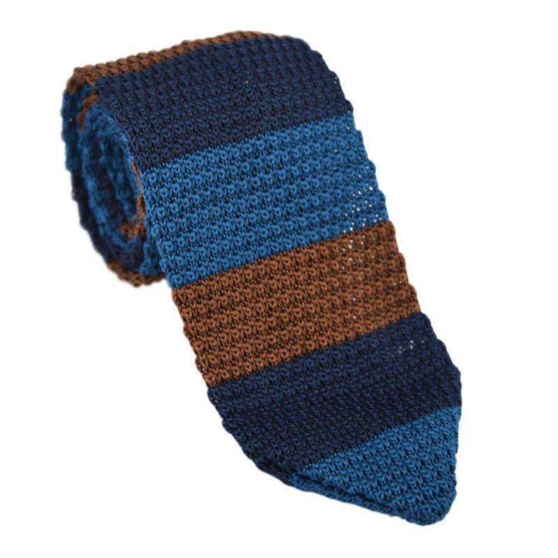 Nouveau Style De Mode Hommes de Cravate En Tricot Tricoté de Cravate  Étroite Slim Skinny Tissé Cravates Multi-Couleur 87a730d4128