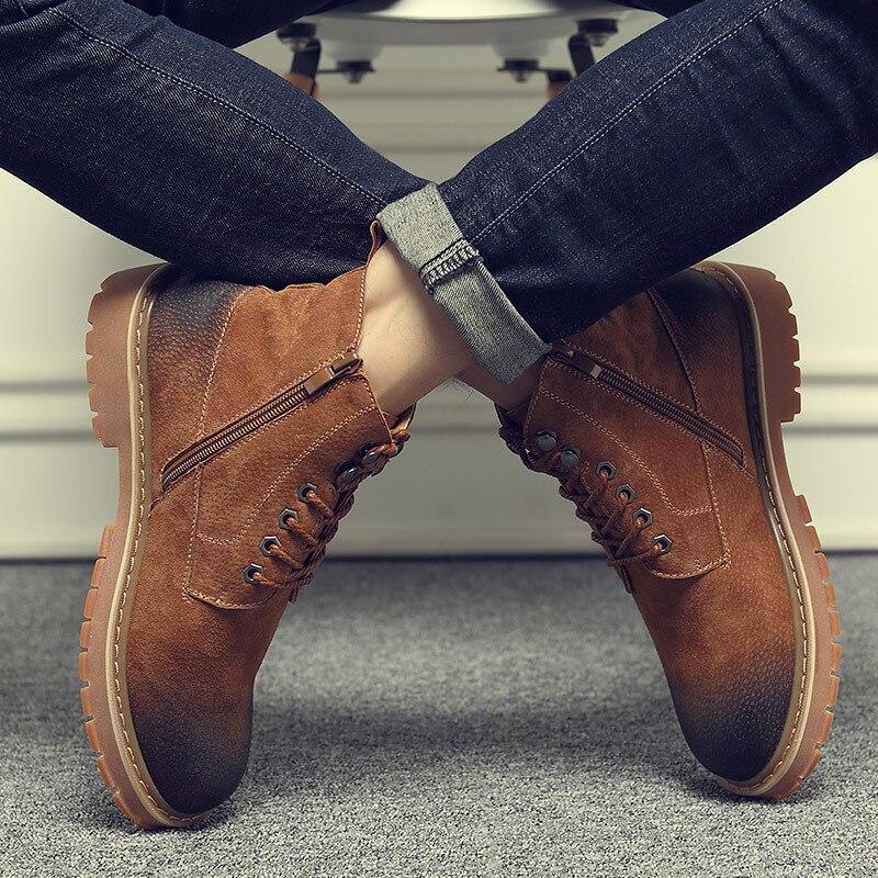НОВЫЙ Мартин Челси высокие сапоги мужской Британский кожа Для мужчин обувь ботинки в стиле ретро ботинки для операций в пустыне