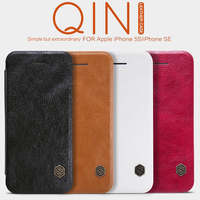 For IPhone Se Leather Case Brand NILLKIN Qin Series Luxury Flip PU Leather Cases For IPhone