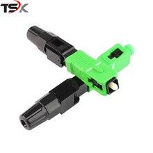 Freies verschiffen 100 PCS/box FTTH SC APC single mode fiber optic SC APC schnelle stecker SC APC FTTH Fiber Optic Schnelle Stecker