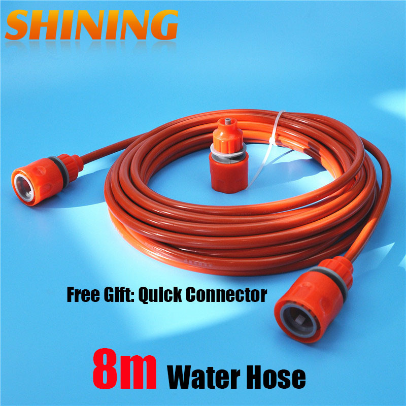 Us 5 65 5 Off 25 Feet 8m Orange Pu Car Washing Garden Watering Hose Pipe With Quick Connector High Pressure Car Washer Pipeline Conduit 5 8mm In Car